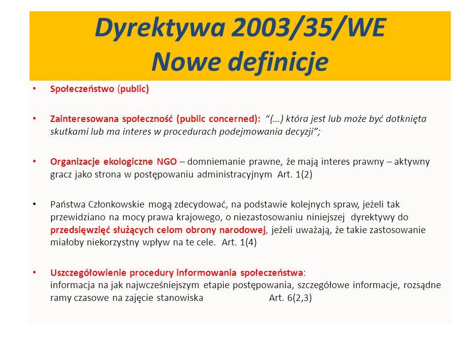 Wprowadzenie procedury odwoławczej dla zainteresowanej społeczności - skuteczne narzędzie kontroli procesu OOŚ.