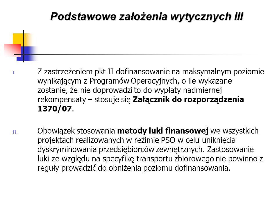 I. Z zastrzeżeniem pkt II dofinansowanie na maksymalnym poziomie wynikającym z Programów Operacyjnych, o ile wykazane zostanie, że nie doprowadzi to d