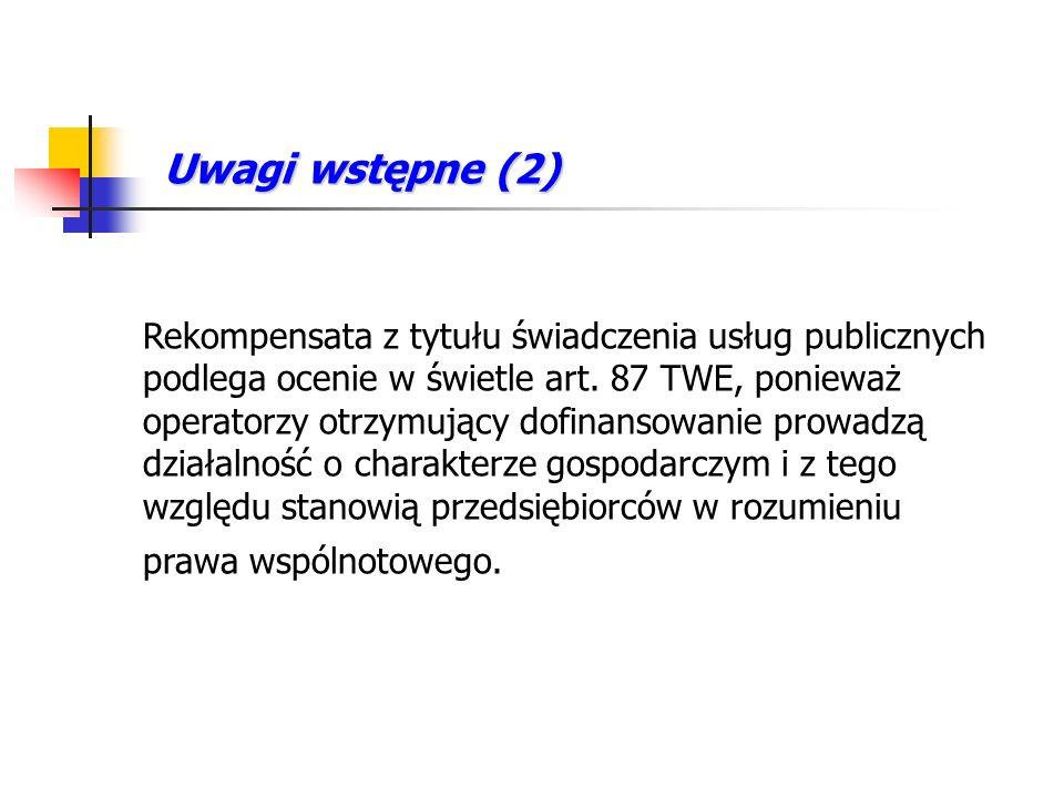 Usługi publiczne – prawo polskie Art.1 ust. 2 ustawy o gospodarce komunalnej Art.