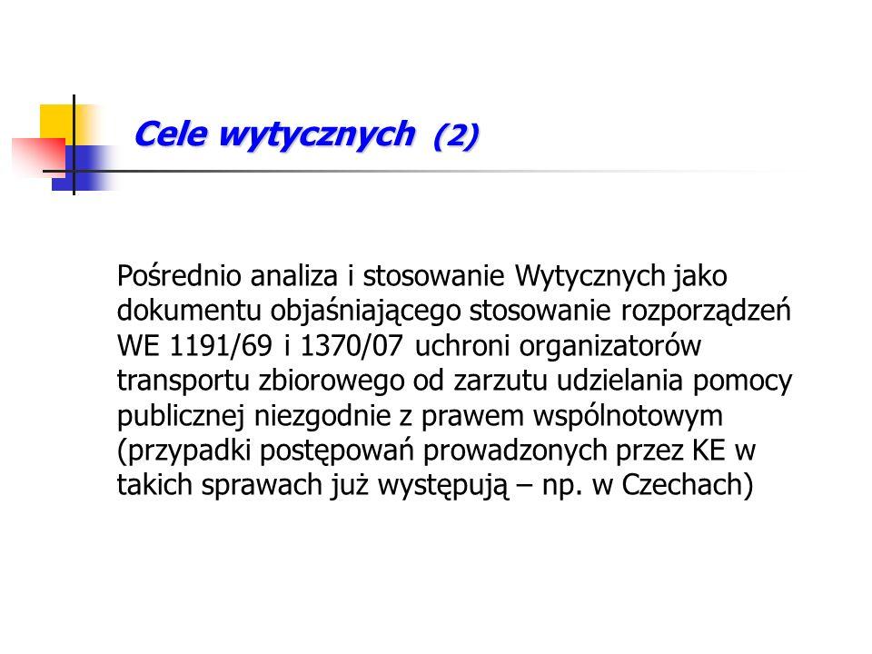 Podstawy prawne – prawo polskie Kwestie będące przedmiotem Wytycznych regulują na szczeblu krajowym m.in.