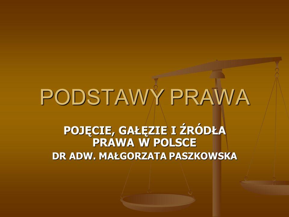 POJĘCIE PRAWA Prawo to termin wieloznaczny, różny sens pojęcia zależnie od dziedziny w której jest używane.