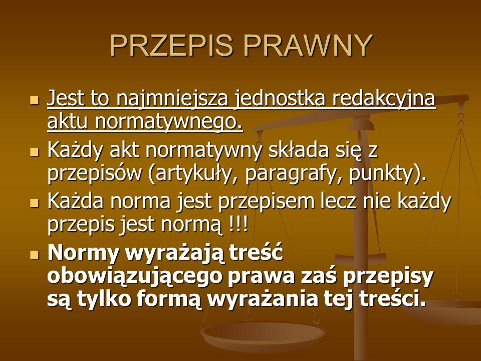 ŹRÓDŁA PRAWA W RP Źródłami powszechnie obowiązującego prawa Rzeczypospolitej Polskiej są: Konstytucja, Konstytucja, ustawy, ustawy, ratyfikowane umowy międzynarodowe ratyfikowane umowy międzynarodowe rozporządzenia.