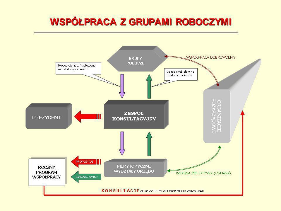 AKRUSZ PROPOZYCJI ZGŁOSZONYCH PRZEZ GRUPĘ ROBOCZĄ Propozycja realizacji zadania Przewidywany koszt Oczekiwana współpraca o charakterze pozafinansowym Uwagi i propozycje wydziałów merytorycznych Przewidywane dofinansowanie