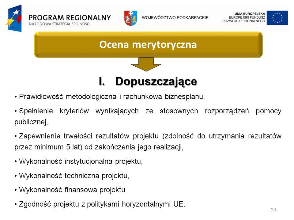 20 Ocena merytoryczna I.