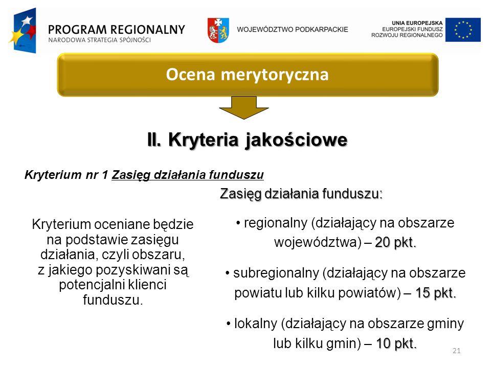 21 Ocena merytoryczna II.