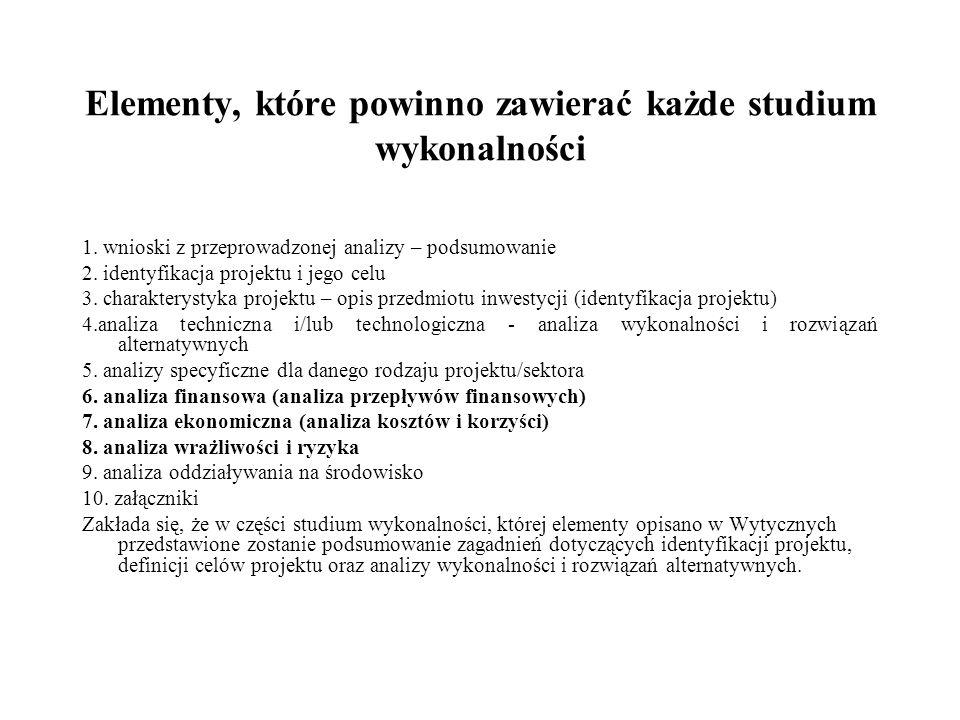 Identyfikacja projektu 1)Identyfikacja projektu powinna dostarczyć zwięzłej i jednoznacznej informacji na temat całościowej koncepcji i logicznych ram projektu.