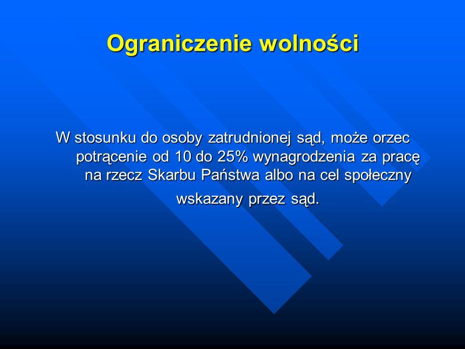 Zasady sądowego wymiaru kary i środków karnych Obostrzenia za występek chuligański np.: art.