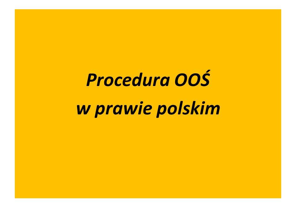 Przedsięwzięcia kwalifikujące się do OOŚ - akt wykonawczy związany z procedurą OOŚ Rozporządzenie Rady Ministrów z dnia 09.11.2004r.