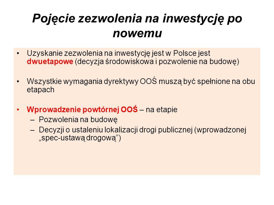 Pojęcie zezwolenia na inwestycję po nowemu Uzyskanie zezwolenia na inwestycję jest w Polsce jest dwuetapowe (decyzja środowiskowa i pozwolenie na budo