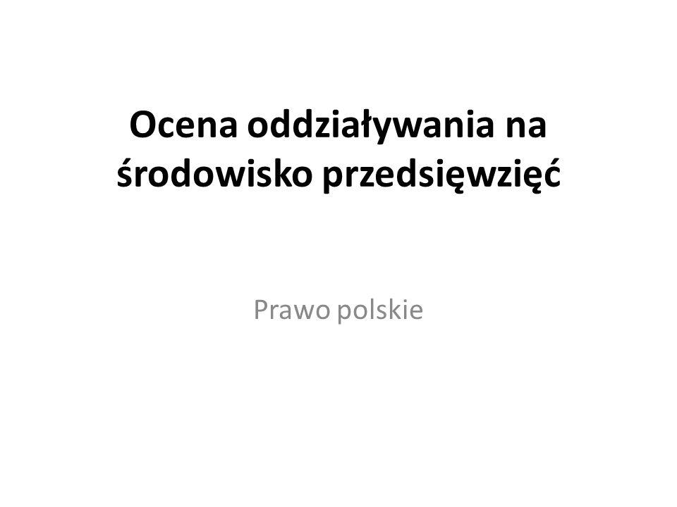Pojęcie zezwolenia na inwestycję po nowemu Uzyskanie zezwolenia na inwestycję jest w Polsce jest dwuetapowe (decyzja środowiskowa i pozwolenie na budowę) Wszystkie wymagania dyrektywy OOŚ muszą być spełnione na obu etapach Wprowadzenie powtórnej OOŚ – na etapie –Pozwolenia na budowę –Decyzji o ustaleniu lokalizacji drogi publicznej (wprowadzonej spec-ustawą drogową)