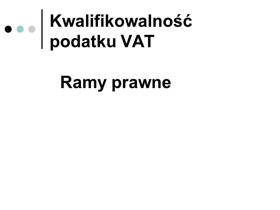 Kwalifikowalność podatku VAT Ramy prawne
