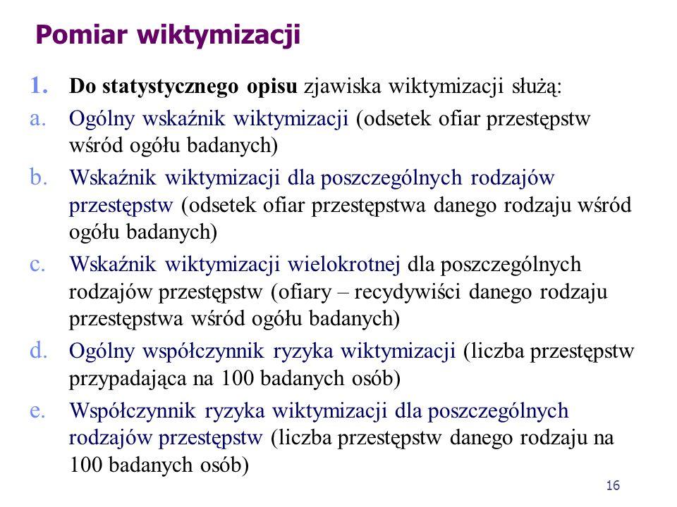 15 Ofiara a policja 1. Według Rady Europy: a. Policjanci powinni wiedzieć, jak sympatycznie, konstruktywnie i reasekuracyjnie zajmować się ofiarą b. P