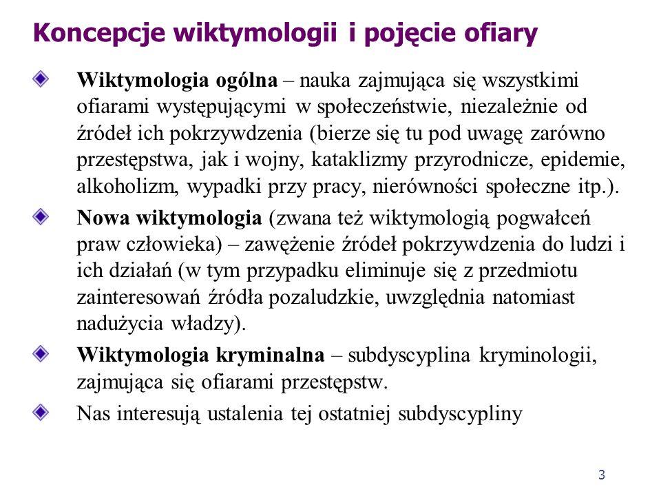 2 Pojęcie wiktymologii Wiktymologia (z łac. victima – ofiara, z gr. logos – nauka) to nauka o ofierze (kim jest, czym się zajmuje, z czego żyje, jaki