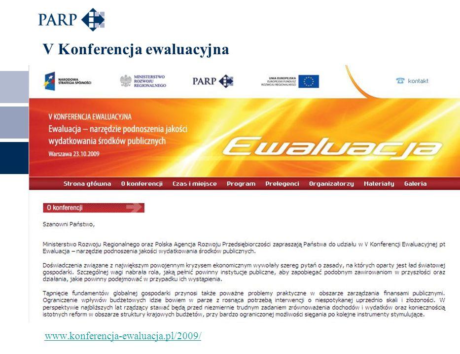 www.konferencja-ewaluacja.pl/2009/ V Konferencja ewaluacyjna