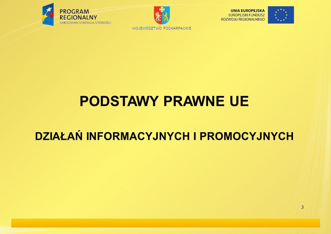 4 PODSTAWY PRAWNE UE (1) 1.Rozporządzenie Rady (WE) nr 1083/2006: Art.