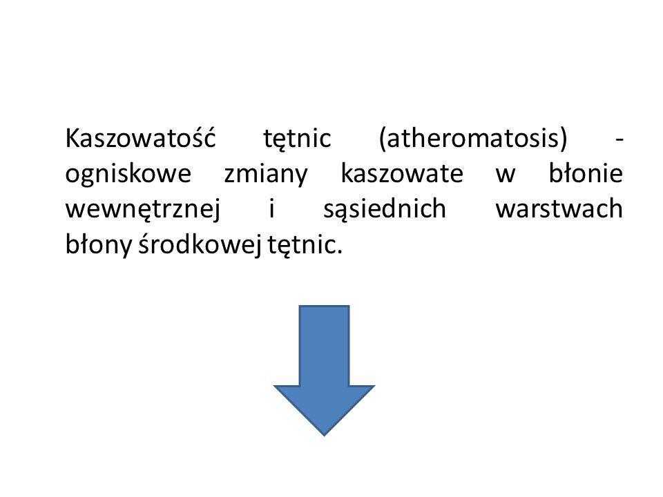 Kaszowatość tętnic (atheromatosis) - ogniskowe zmiany kaszowate w błonie wewnętrznej i sąsiednich warstwach błony środkowej tętnic.