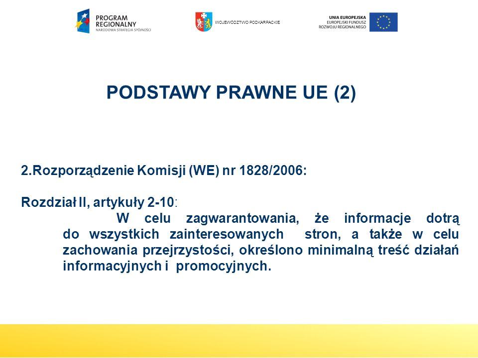 2.Rozporządzenie Komisji (WE) nr 1828/2006: Rozdział II, artykuły 2-10: W celu zagwarantowania, że informacje dotrą do wszystkich zainteresowanych str