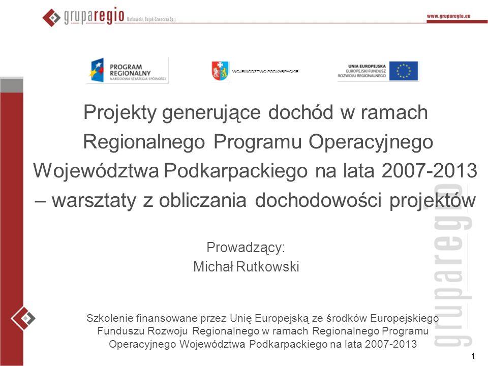 12 Cel prezentacji Przedstawienie istoty luki w finansowaniu projektów Przedstawienie podstaw metodyki wyliczenia poziomu dofinansowania projektów generujących dochód