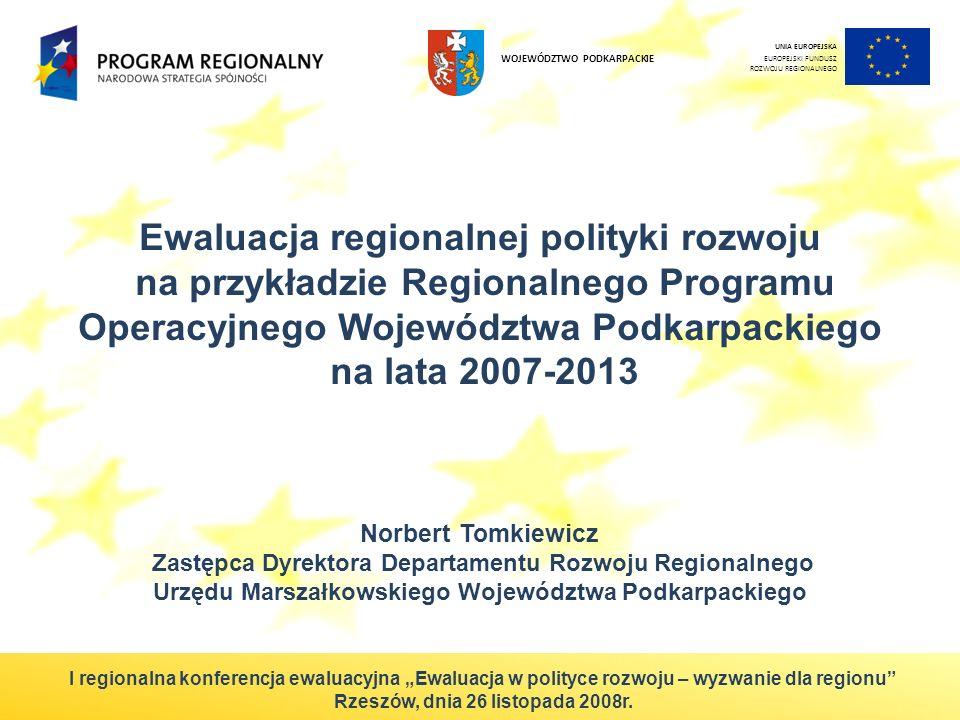 2 RPO WP jako element realizacji polityki rozwoju Regionalny Program Operacyjny Województwa Podkarpackiego na lata 2007-2013 (RPO WP) stanowi jeden z podstawowych instrumentów realizacji Strategii rozwoju województwa podkarpackiego na lata 2007-2020.