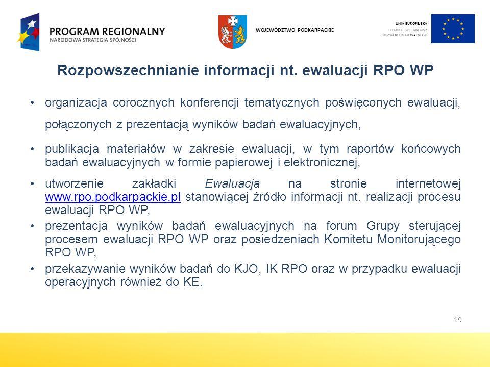 19 Rozpowszechnianie informacji nt.