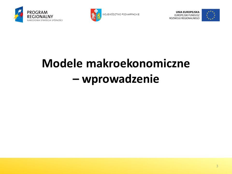 3 Modele makroekonomiczne – wprowadzenie WOJEWÓDZTWO PODKARPACKIE