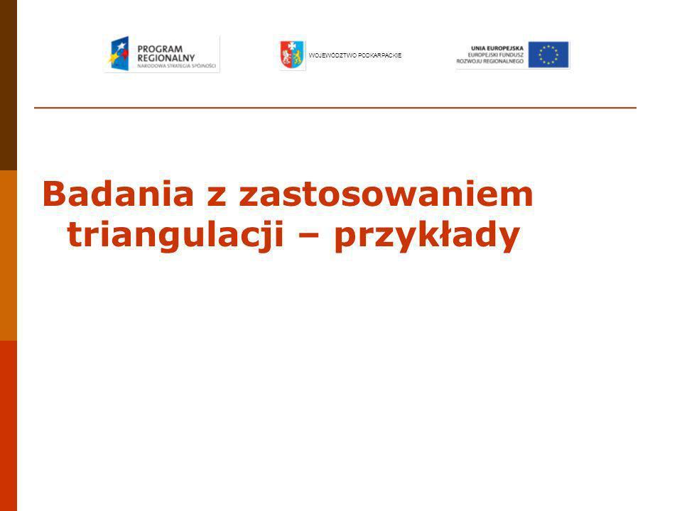 Badanie ewaluacyjne dotyczące realizacji perspektywy równości płci przez Sektorowy Program Operacyjny Rozwój Zasobów Ludzkich na lata 2004-2006 WOJEWÓDZTWO PODKARPACKIE