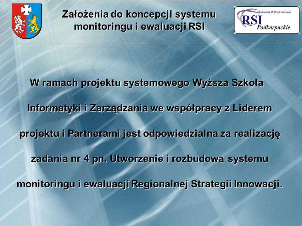 W ramach projektu systemowego Wyższa Szkoła Informatyki i Zarządzania we współpracy z Liderem projektu i Partnerami jest odpowiedzialna za realizację zadania nr 4 pn.