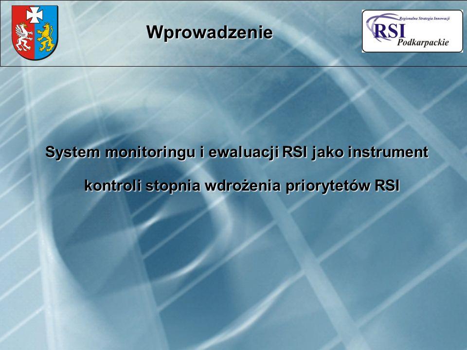 System monitoringu i ewaluacji RSI jako instrument kontroli stopnia wdrożenia priorytetów RSI Wprowadzenie