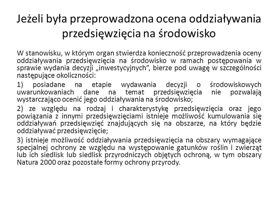 Ocena przedsięwzięć Zgodnie z art.84 ust.