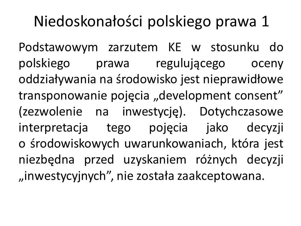 Niedoskonałości polskiego prawa 2 Zgodnie z art.