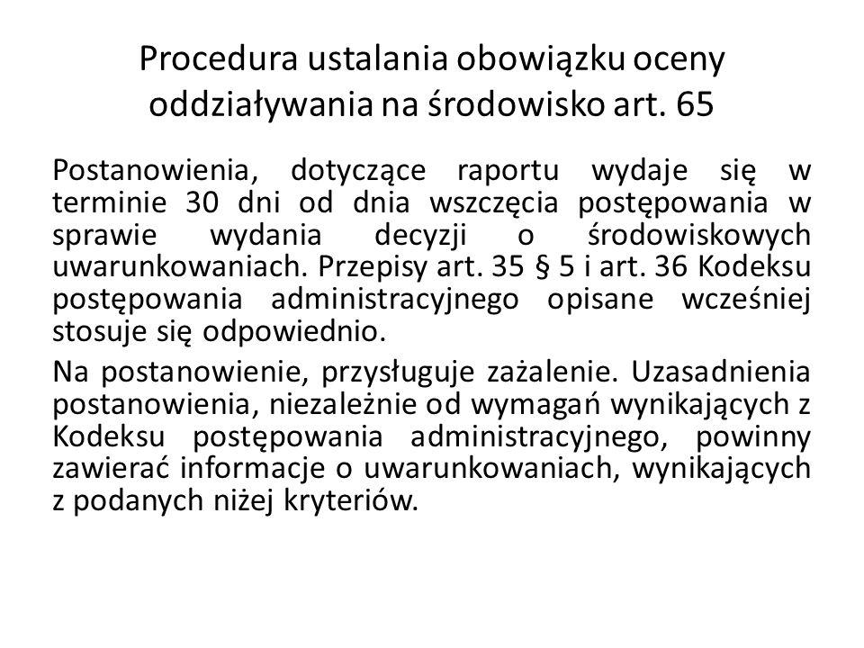 Kryteria ustalenia obowiązku (art.