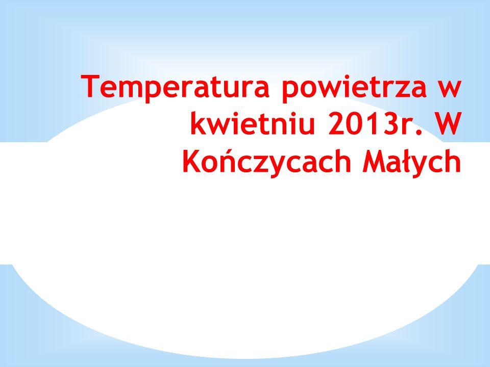 Temperatura powietrza w kwietniu 2013r. W Kończycach Małych
