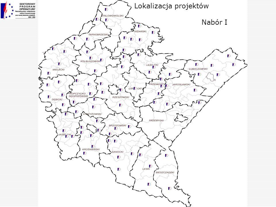 Nabór I Lokalizacja projektów