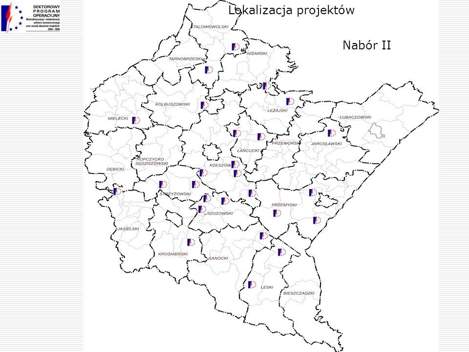 Nabór II Lokalizacja projektów