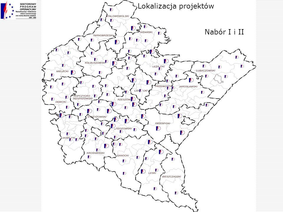 Nabór I i II Lokalizacja projektów