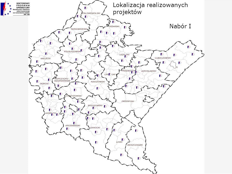Lokalizacja realizowanych projektów