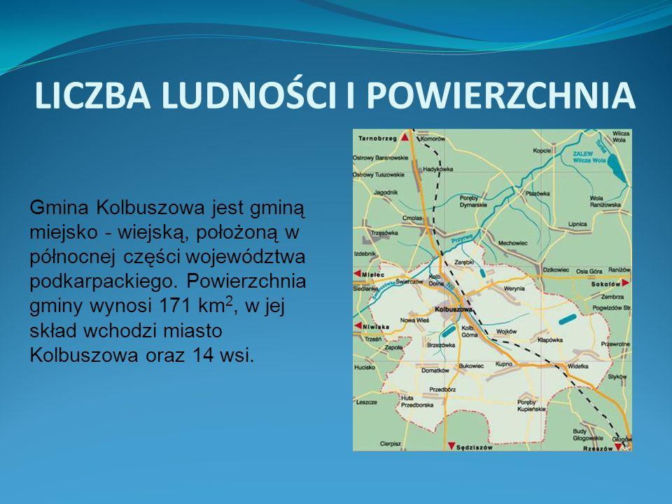 LICZBA LUDNOŚCI I POWIERZCHNIA Gmina Kolbuszowa jest gminą miejsko - wiejską, położoną w północnej części województwa podkarpackiego. Powierzchnia gmi
