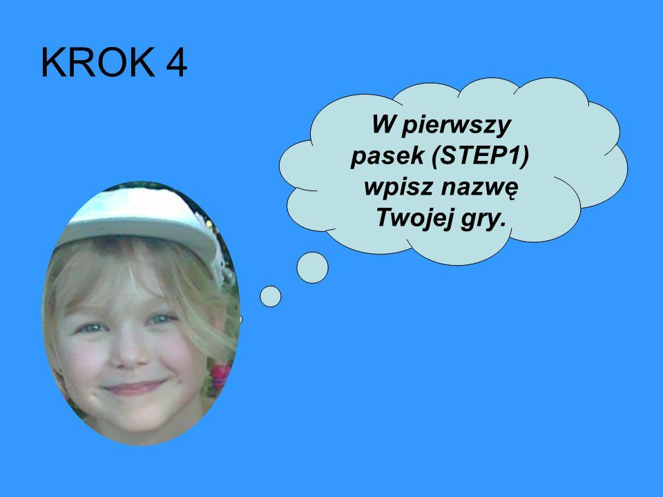 W drugi pasek (STEP 2) wpisz dziesięć działań rozdzielając je enterem.