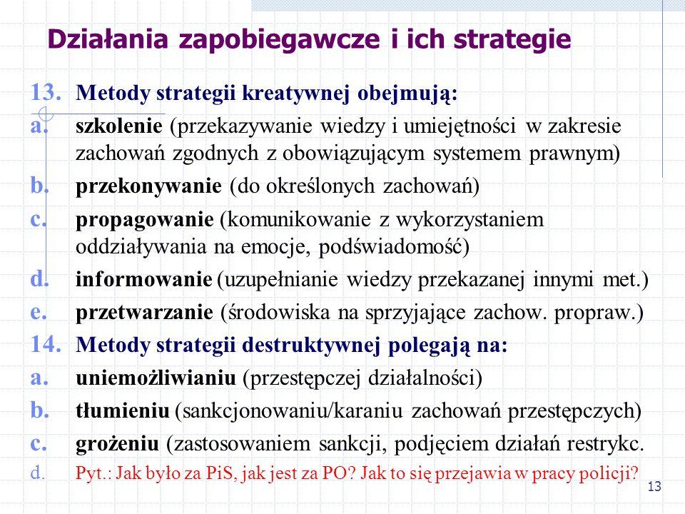 12 Działania zapobiegawcze i ich strategie 10. Punktem odniesienia jest oczywiście norma prawna i jej naruszenie faktyczne lub potencjalne; 11. W zwią