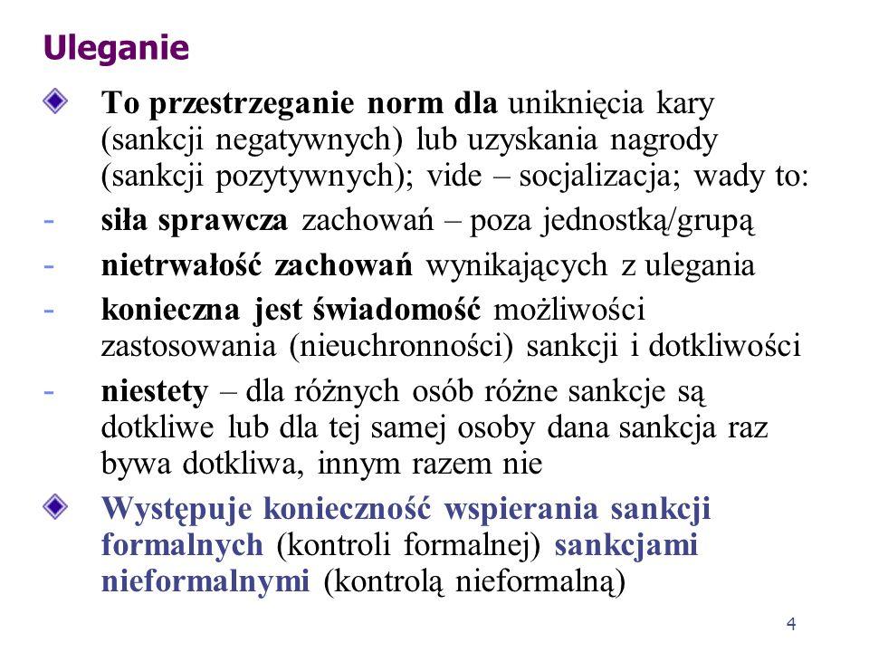 3 Zapobieganie a kontrola społeczna Zapobieganie to aspekt kontroli społecznej Kontrola społeczna to system społecznych sankcji (negatywnych i pozytyw