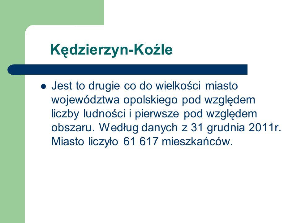 Kędzierzyn-Koźle Jest to drugie co do wielkości miasto województwa opolskiego pod względem liczby ludności i pierwsze pod względem obszaru.