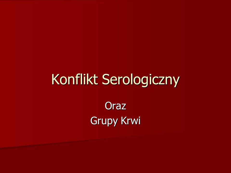 Konflikt Serologiczny Oraz Grupy Krwi