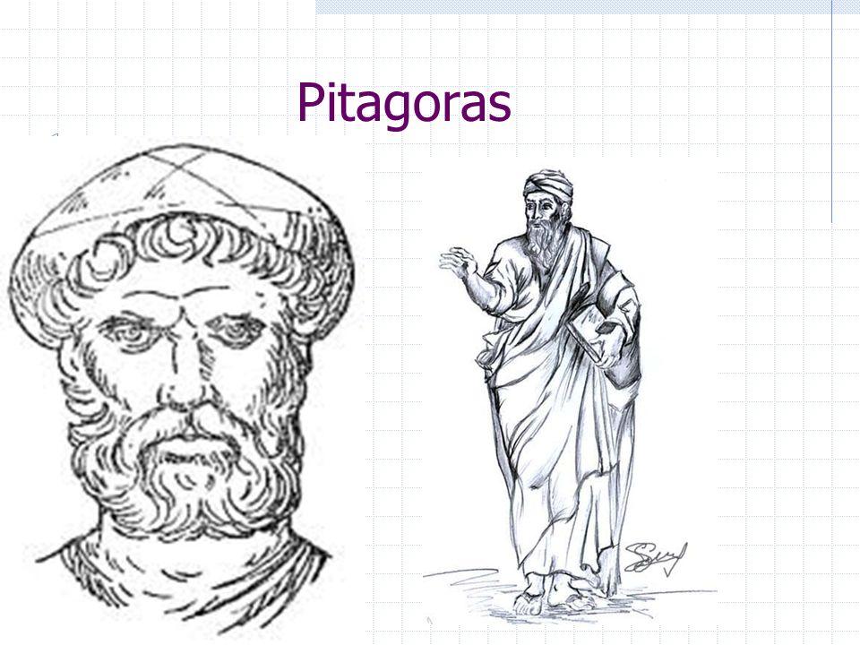 Inne osiągnięcia Wśród innych osiągnięć Pitagorasa i jego szkoły wymienia się też: dowód, że suma kątów trójkąta równa jest dwóm kątom prostym, wprowa