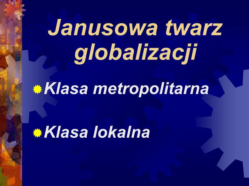Janusowa twarz globalizacji Klasa metropolitarna Klasa lokalna
