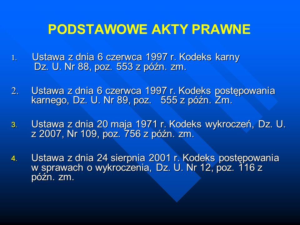 PODSTAWOWE AKTY PRAWNE 5.Ustawa z dnia 6 czerwca 1997 r.