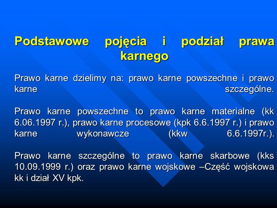 Zarys historii prawa karnego Prawo karne w Polsce Podstawowy podział przestępstw w Średniowieczu to przestępstwa ścigane z urzędu i na podstawie skargi prywatnej.