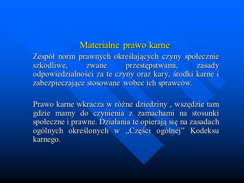 Zarys historii prawa karnego Prawo karne w Polsce Kary mutylacyjne Infamia i banicja- infamia surowsza, banita nie tracił czci, zabicie banity nie było nagradzane; Kara pręgierza Kara pozbawienia wolności Konfiskata majątku