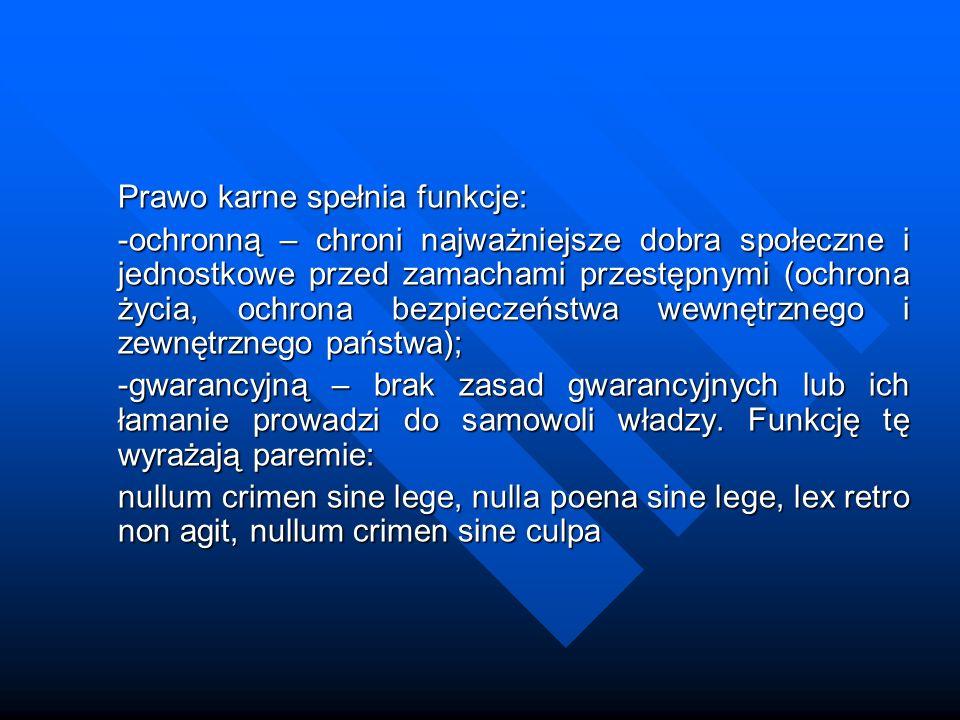 Zarys historii prawa karnego Prawo karne w Polsce Odpowiedzialność zbiorowa, czyli osób które nie brały udziału w przestępstwie, tylko za najcięższe przestępstwa np.