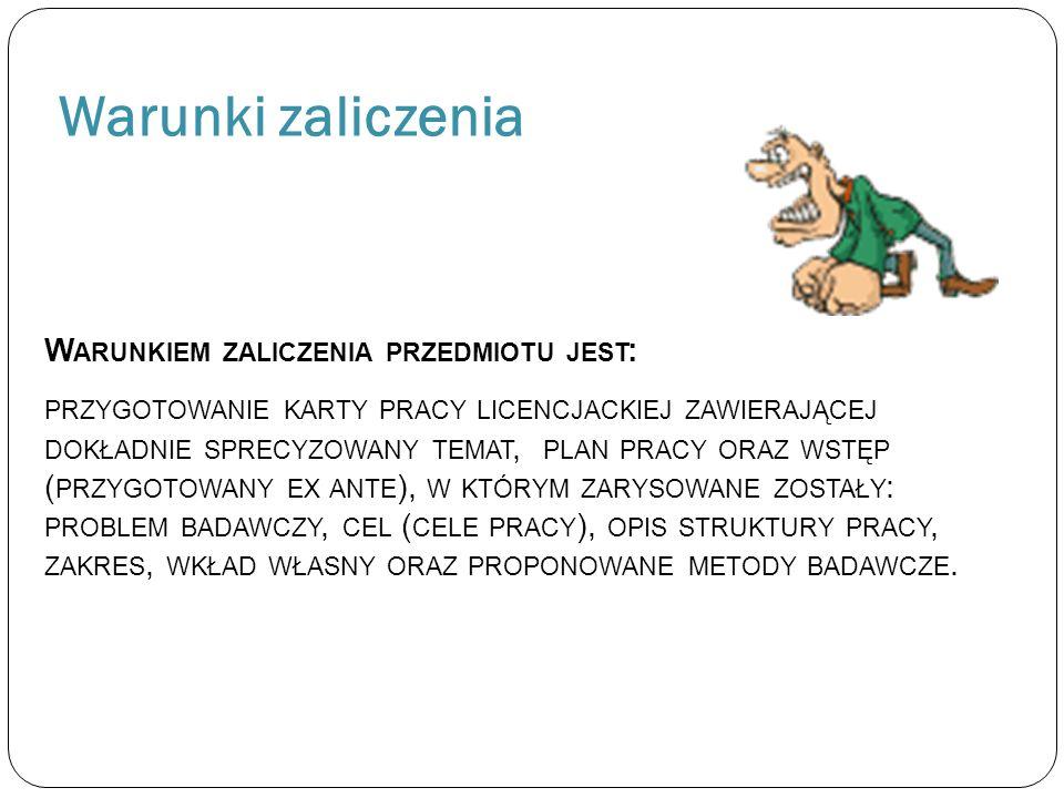 Program zajęć 1.Jak pisać pracę dyplomową – informacje ogólne.