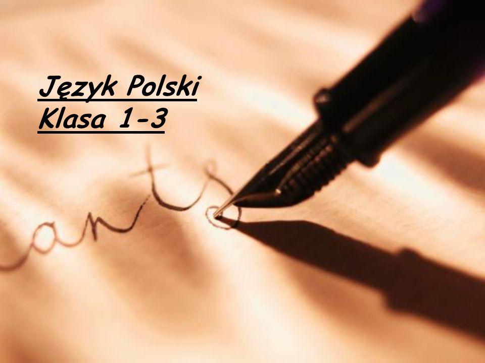 Język Polski Klasa 1-3